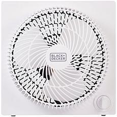 Black & Decker Frameless Tabletop Box Fan - White