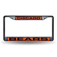 Black Chrome License Plate Frame - Chicago Bears