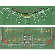 Blackjack and Craps Two-Sided Felt Layout