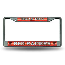 """Bling"" License Plate Frame - Texas Tech University"