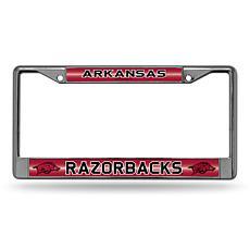 """""""Bling"""" License Plate Frame - University of Arkansas"""