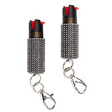 BlingSting 2-pack Pepper Spray Purse Charm with Key Chain Clip
