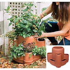 Bloem Mayan 4-Tier Multi-Level Planter Terra Cotta Color