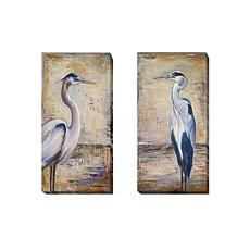 """Blue Heron"" by Pinto 2-piece Gallery-Wrapped Canvas Gi"