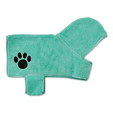 Bone Dry Embroidered Paw Pet Robe
