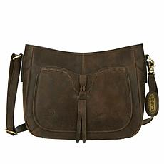 Born® Leyman Distressed Leather Crossbody Bag