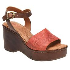 Born® Moapa Leather Platform Wedge Sandal