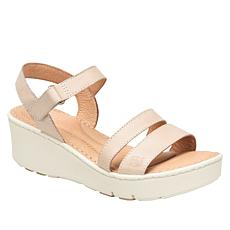Born® Pawnee Leather Platform Wedge Sandal