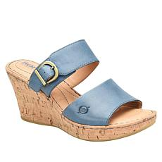 Born® Sea Leather Platform Slide Sandal