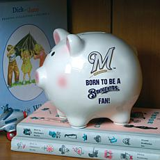 Born to be a Milwaukee Brewers Fan Piggy Bank