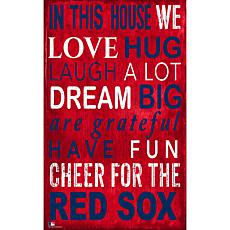 Boston Red Sox In This House Sign