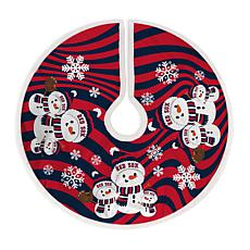 Boston Red Sox Snowman Christmas Tree Skirt