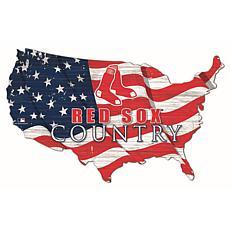 Boston Red Sox USA Shape Flag Cutout