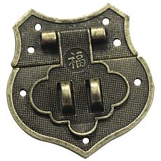Brass Embellishments 8-pack - Shield Catch