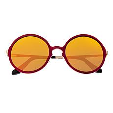 Breed Corvus Polarized Sunglasses with Red Frame and Yellow Lenses