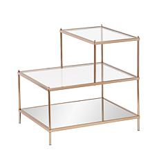 Bremond Metallic Gold Finish Accent Table