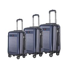 Brio Luggage #906 Hardside 3-piece Spinner Luggage