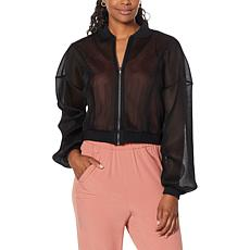 Brittany Humble Mesh Knit Bomber Jacket