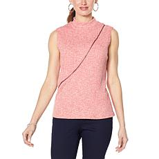 Brittany  Humble Zippered Mock-Neck Top