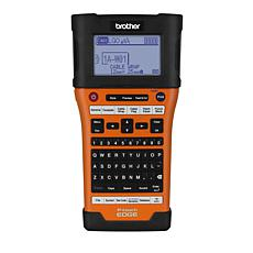 Brother P-Touch-E550W Hand-Held Labeler (UX0987) - Black/Orange
