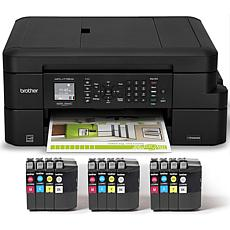 Brother Wireless All-in-One Printer with INKvestment Ink and Software