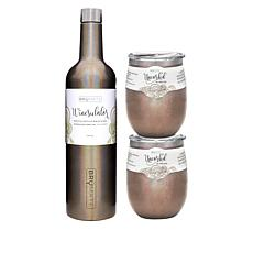 BrüMate Portable Insulated Wine Travel Set