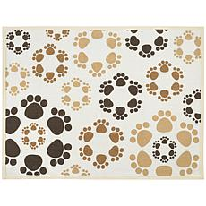 buddyu0027s fashion forward cotton dog bowl mat