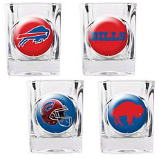 Buffalo Bills 4pc Collector's Shot Glass Set