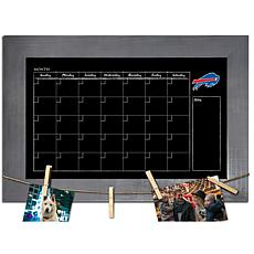 Buffalo Bills Monthly Chalkboard with frame & clothespins 11x19 Sign