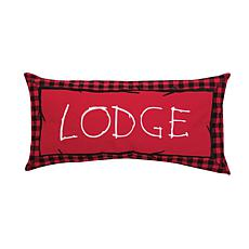 Buffalo Check Lodge Embroidered Pillow