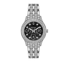 Bulova Crystal Marker Black Dial Bracelet Watch