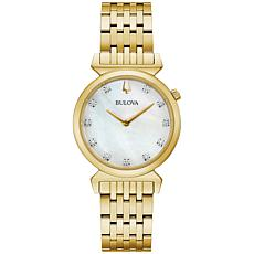 Bulova Goldtone Women's Diamond Marker Bracelet Watch