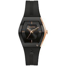 Bulova Latin GRAMMY® Black Stainless Steel Women's Strap Watch