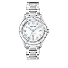 Bulova Marine Star Women's Mother-of-Pearl Diamond-Accent Watch