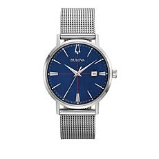 Bulova Men's Aerojet Blue Dial Stainless Steel Mesh Bracelet Watch