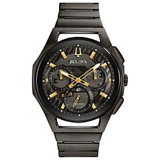 Bulova Men's CURV Chronograph Gray Stainless Steel Bracelet Watch