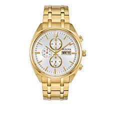 Bulova Men's Goldtone Stainless Steel Bracelet Chronograph Watch