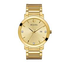 Bulova Men's Modern Goldtone Dial Goldtone Watch