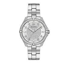 Bulova Pavé Dial Stainless Steel Bracelet Watch
