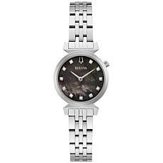 Bulova Regatta Silvertone Women's Diamond Marker Bracelet Watch