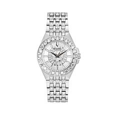 Bulova Women's Stainless Steel Crystal Baguette Watch