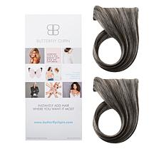 """Butterfly Clip-In 10""""-12""""Middle Part Volumizing Set"""