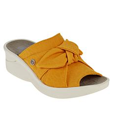 Bzees Smile Washable Bow Slide Sandal