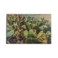 Cactus Landscape 24x36 Print on Wood