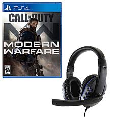 Call of Duty Modern Warfare and Gaming Headset for the PlayStation 4