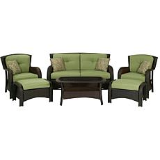Cambridge Corolla 6-Piece Lounge Set - Green