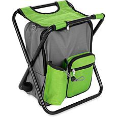 Camco Camping Stool Backpack Cooler - Green