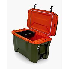 Camco Cooler Currituck, 50-Quart - Olive / Orange