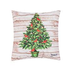 C&F Home Cardinal Yuletide Tree Pillow