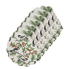 C&F Home Chickadee Cotton Quilted Round Reversible Placemat Set of 6